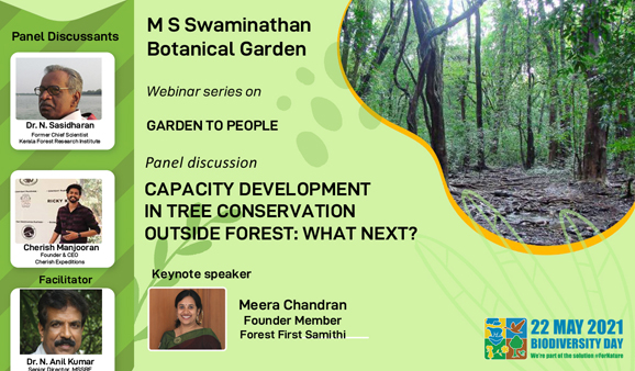 Panel discussion on Capacity development in tree conservation outside forest: What next?
